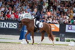 RATH Matthias Alexander (GER), Destacado<br /> Ermelo - World Breeding Dressage Championsships for Young Horses 2018<br /> Weltmeisterschaft Junge Dressurpferde<br /> Finale 5jährige Dressurpferde<br /> 04. August 2018<br /> © www.sportfotos-lafrentz.de/Stefan Lafrentz