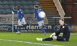 Siriki Dembele of Peterborough United celebrates scoring his sides second goal of the game - Mandatory by-line: Joe Dent/JMP - 21/01/2020 - FOOTBALL - Weston Homes Stadium - Peterborough, England - Peterborough United v Wycombe Wanderers - Sky Bet League One