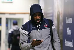 Raphell Thomas-Edwards of Bristol Flyers arriving at the arena - Photo mandatory by-line: Arron Gent/JMP - 07/12/2019 - BASKETBALL - Surrey Sports Park - Guildford, England - Surrey Scorchers v Bristol Flyers - British Basketball League Championship