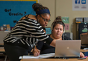 Students participate in the Twilight program at Milby High School, September 10, 2013.