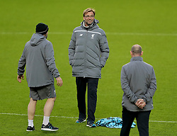 MANCHESTER, ENGLAND - Wednesday, March 16, 2016: Liverpool's manager Jürgen Klopp during a training session at Old Trafford ahead of the UEFA Europa League Round of 16 2nd Leg match against Manchester United. (Pic by David Rawcliffe/Propaganda)