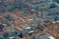 07.10.2012, Zadar, CRO, die gegent um das croatische Zadar aus aus dem Flugzeug, im Bild The Church of St. Donatus // during aerial photography of Zadar area, Zadar, Croatia on 2012/10/07. EXPA Pictures © 2012, PhotoCredit: EXPA/ Pixsell/ Filip Brala..***** ATTENTION - OUT OF CRO, SRB, MAZ, BIH and POL *****