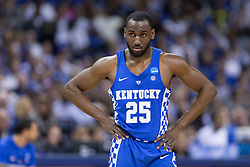 Kentucky guard Dominique Hawkins contributed 10 points to the Kentucky loss against North Carolina, 75-73, in the 2017 NCAA D1 Men's South Regional Championship, Sunday, March 26, 2017 at FedExForum in Memphis.