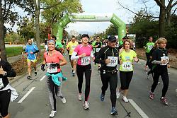 Runners compete during 21km and 42km run at 19th Ljubljana Marathon 2014 on October 26, 2014 in Ljubljana, Slovenia. Photo by Vid Ponikvar / Sportida.com