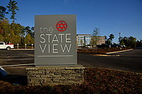 Entrance to the StateView hotel on Centennial Campus.