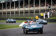 A vintage racing cars take part in the official practice run for the Sussex Trophy at the Goodwood Revival in Chichester, England Friday, Sept. 9, 2016 The historic motor racing festival celebrates the mid-20th-century golden era of the racing circuit and recreates the atmosphere from the 1950s and 1960s.(Elizabeth Dalziel)