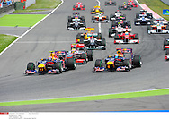 hamilton (lewis) - (gbr) - mc laren .. *** Local Caption *** webber (mark) - (aus) - ..vettel (sebastian) - (ger) - ..