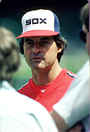 CHICAGO - 1986:  Manager Tony LaRussa of the Chicago White Sox talks to the media prior to an MLB game at Comiskey Park in Chicago, Illinois during the 1986 season . (Photo by Ron Vesely)  Subject:   Tony LaRussa