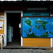 Information center for tourists in Colon Island, Bocas del Toro, Panama