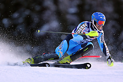 06.01.2014, Stelvio, Bormio, ITA, FIS Weltcup Ski Alpin, Bormio, Slalom, Herren, im Bild Anton Lahdenperae // Anton Lahdenperae  in action during mens Slalom of the Bormio FIS Ski World Cup at the Stelvio in Bormio, Italy on 2014/01/06. EXPA Pictures © 2014, PhotoCredit: EXPA/ Sammy Minkoff<br /> <br /> *****ATTENTION - OUT of GER*****