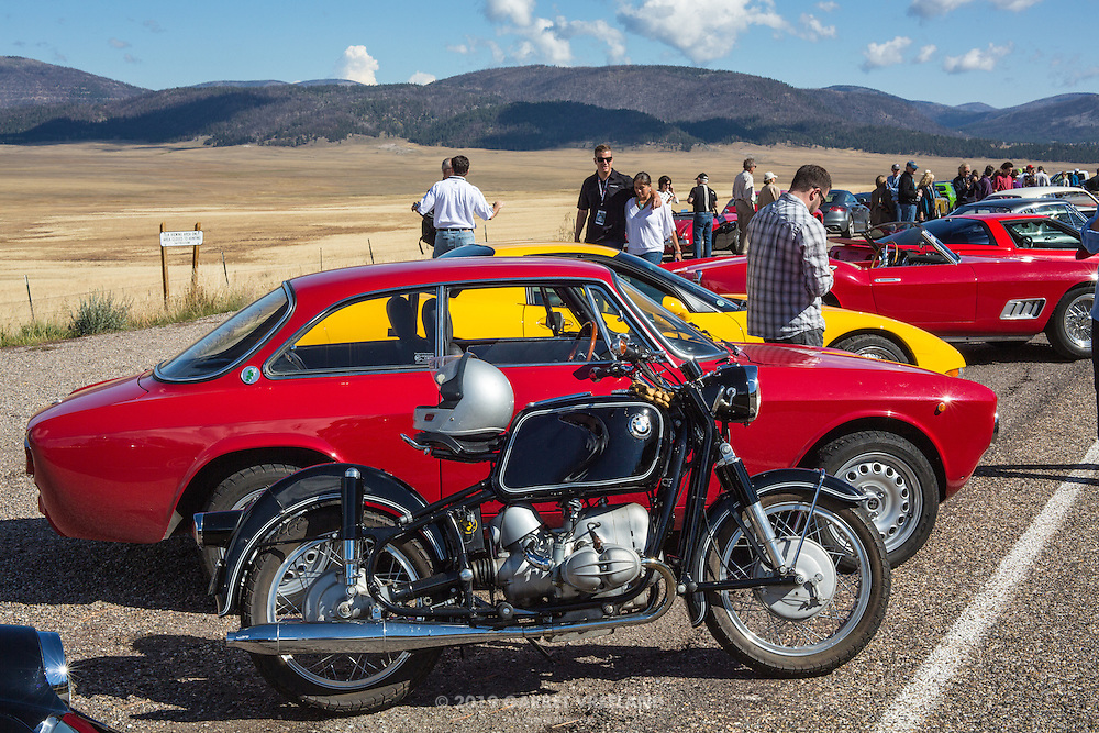 BMW, Alfa, Vette, Ferrari? What a lineup ... on the 2012 Santa Fe Concorso High Mountain Tour.