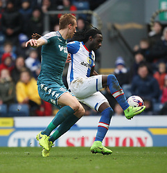 Dan Burn of Wigan Athletic (L) and Marvin Emnes of Blackburn Rovers in action - Mandatory by-line: Jack Phillips/JMP - 04/03/2017 - FOOTBALL - Ewood Park - Blackburn, England - Blackburn Rovers v Wigan Athletic - Football League Championship