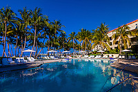 Swimming pool, Ritz-Carlton Casa Marina Hotel, Key West, Florida Keys, Florida USA