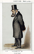 Samuel Plimsoll (1824-1898) British social reformer, 'the sailor's friend'. Merchant Shipping Act 1876 and 'Plimsoll Mark'. Member of Parliament 1868-1880. Cartoon from 'Vanity Fair', London, March 1873.