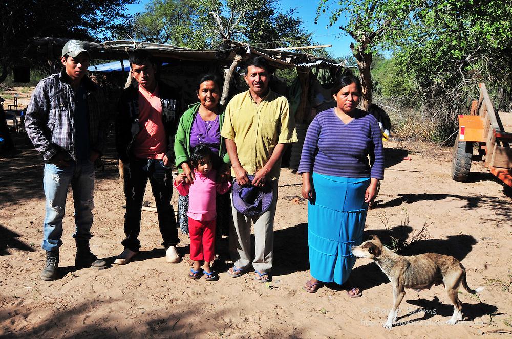 Guarani family in Yapiroa, Charagua, Santa Cruz, Bolivia