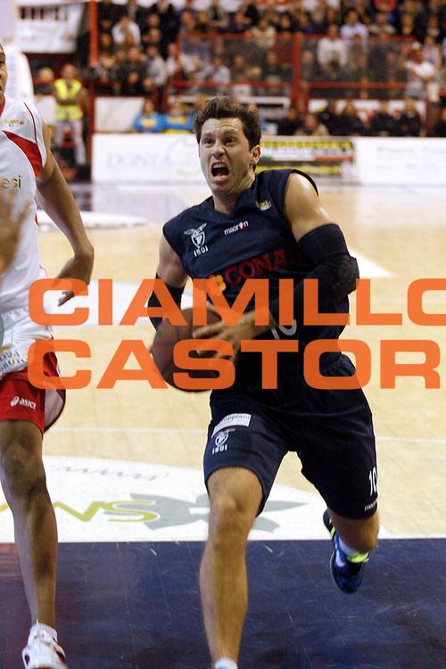 DESCRIZIONE : Pistoia Lega A2 2011-12 Giorgio Tesi Group Pistoia Conad Fortitudo Nologna<br /> GIOCATORE : Pecile Andrea <br /> SQUADRA : Conad Fortitudo Nologna<br /> EVENTO : Campionato Lega A2 2011-2012<br /> GARA : Giorgio Tesi Group Pistoia Conad Fortitudo Nologna<br /> DATA : 23/10/2011<br /> CATEGORIA : Penetrazione<br /> SPORT : Pallacanestro<br /> AUTORE : Agenzia Ciamillo-Castoria/Stefano D'Errico<br /> Galleria : Lega Basket A2 2011-2012 <br /> Fotonotizia : Pistoia Lega A2 2011-2012 Giorgio Tesi Group Pistoia Conad Fortitudo Nologna<br /> Predefinita :