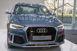 10.03.2015, Audi Forum, Ingolstadt, GER, AUDI AG Jahrespressekonferenz, im Bild Ausstellung Audi RS Q 3 // during AUDI AG Annual Press Conference at the Audi Forum in Ingolstadt, Germany on 2015/03/10. EXPA Pictures © 2015, PhotoCredit: EXPA/ Eibner-Pressefoto/ Strisch<br /> <br /> *****ATTENTION - OUT of GER*****