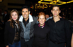MR & MRS URI GELLER and their children NATALIE and DANIEL at the opening night of the musical Murderous Instincts at The Savoy Theatre, London on 7th October 2004.<br />