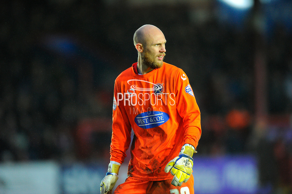 Dagenham & Redbridge's Mark Cousins during the Sky Bet League 2 match between Exeter City and Dagenham and Redbridge at St James' Park, Exeter, England on 2 January 2016. Photo by Graham Hunt.