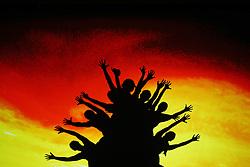 03.10.2015, Frankfurt am Main, GER, Tag der Deutschen Einheit, im Bild Schattenspielinszenierung beim Festakt in der Alten Oper Frankfurt zu Geschehnissen nach der Einheit 1990 // during the celebrations of the 25 th anniversary of German Unity Day in Frankfurt am Main, Germany on 2015/10/03. EXPA Pictures © 2015, PhotoCredit: EXPA/ Eibner-Pressefoto/ Roskaritz<br /> <br /> *****ATTENTION - OUT of GER*****