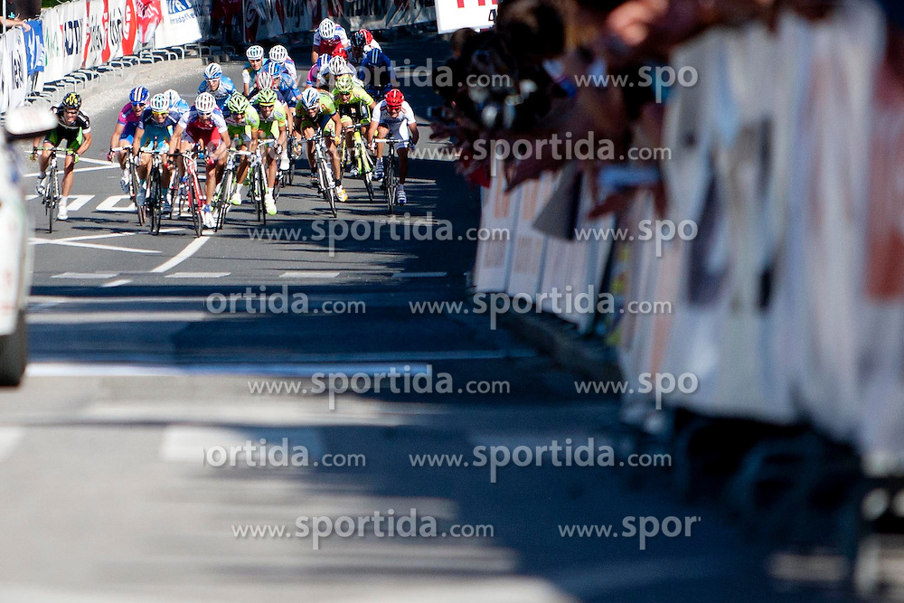 Sprint during 2nd Stage (177,4 km) at 19th Tour de Slovenie 2012, on June 15, 2012, in Metlika, Slovenia. (Photo by Urban Urbanc / Sportida.com)