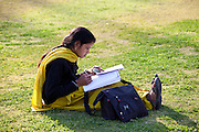 Indian woman student at Delhi University in former Viceroy's Residence, India