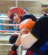 Paul Callaghan sparring - Monifieth Athletic Under 14s football club are doing boxing training at Lochee Boys Club to improve their overall fitness. .- © David Young -.5 Foundry Place - .Monifieth - .Angus - .DD5 4BB - .Tel: 07765 252616 - .email: davidyoungphoto@gmail.com - .http://www.davidyoungphoto.co.uk