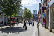 Central pedestrianised shopping area, Swansea, West Glamorgan, South Wales, UK
