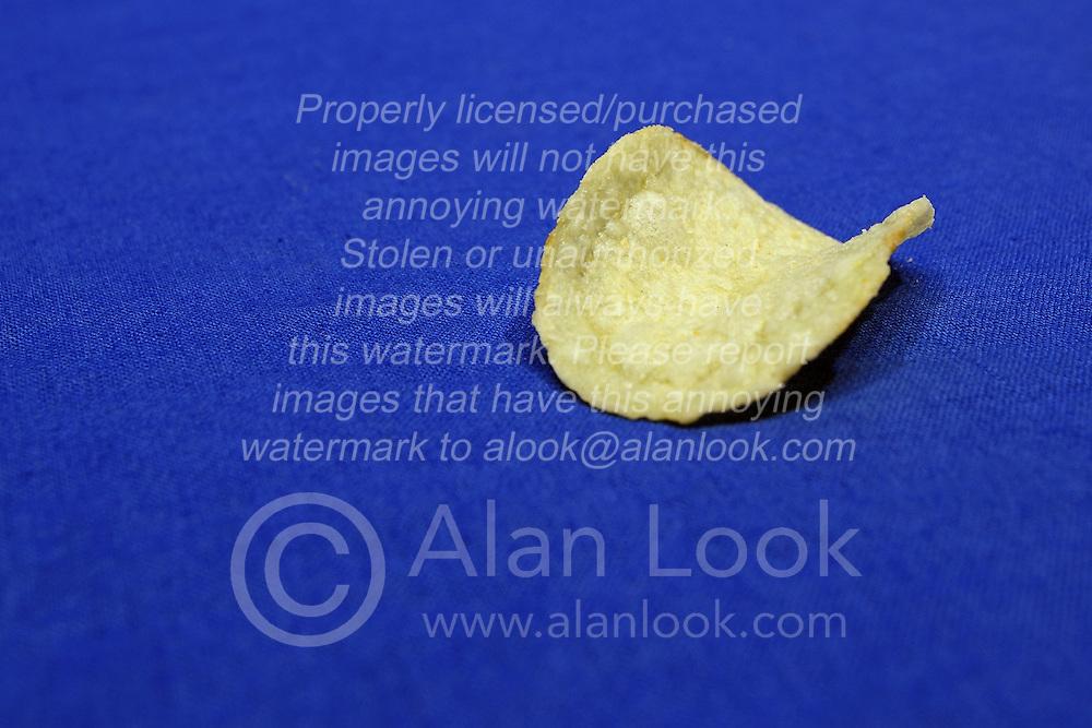 02 February 2016:   Potato Chip(s) on a blue background