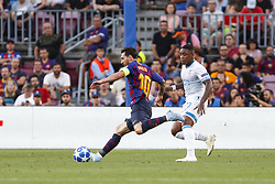 September 18, 2018 - Barcelona, Catalonia, Spain - FC Barcelona forward Lionel Messi (10) during the UEFA Champions League match between FC Barcelona and PSV Eindhoven at Camp Nou Stadium corresponding of matchday 1, group B on September 18, 2018 in Barcelona, Spain. (Credit Image: © Mikel Trigueros/NurPhoto/ZUMA Press)