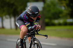 Lisa Brennauer (CANYON//SRAM Racing) battles through the final kilometres at Thüringen Rundfarht 2016 - Stage 4 a 19km time trial starting and finishing in Zeulenroda Triebes, Germany on 18th July 2016.