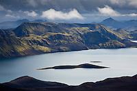 Fögrufjöll við Langasjó. Útsýni frá Breiðbak. Fogrufjoll Mountains by lake Langisjor. View from Mount Breidbakur.