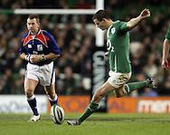 Photo © SPORTZPICS / SECONDS LEFT IMAGES 2010 - Ireland's Jonathan Sexton kicks for goal - Ireland v South Africa - Guinness Series 2010 - Aviva Stadium - Dublin - Ireland - 06/11/10 - All rights reserved
