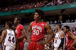 Maryland forward Bambale Osby (50) after a foul was called on him in the first half.  The Virginia Cavaliers defeated the Maryland Terrapins 91-76 at the University of Virginia's John Paul Jones Arena  in Charlottesville, VA on March 9, 2008.
