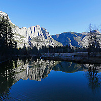 USA, California, Yosemite National Park. Yosemite Valley reflection.