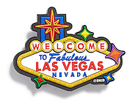 Welcome to Fabulous Las Vegas Nevada magnet on white background