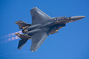 F-15E Super Eagle flying at Nellis AFB
