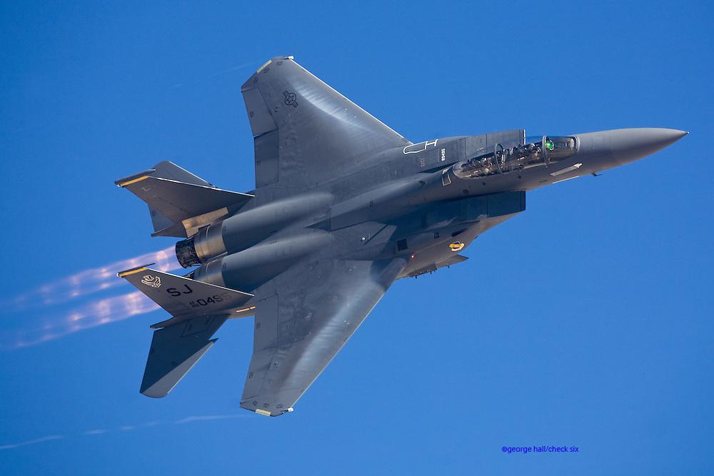 F-15E Super Eagle flying at Nellis AFB