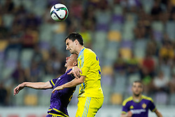 Dare Vrsic #22 of Maribor vs Branko Ilic of Astana during First Leg football match between NK Maribor and FC Astana in Second qualifying round of UEFA Champions League, on July 14, 2015 in Stadium Ljudski vrt, Maribor, Slovenia. Photo by Vid Ponikvar / Sportida
