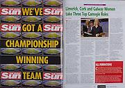 All Ireland Senior Hurling Championship - Final,.11.09.2005, 09.11.2005, 11th Septemeber 2005,.Minor Galway 3-12, Limerick 0-17,.Senior Cork 1-21, Galway 1-16,.11092005AISHCF,.The Irish Sun, .Camogie, Caroline Murray, Galway, .Mary O'Connor, Cork,.Lynn Kelly , National Camogie Development Co-ordinator,
