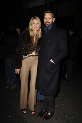 Ralph Lauren unique 4D light installation event, celebrating the launch of the UK ecommerce site, held at Ralph Lauren, 1 New Bond Street, London W1 on 10th November 2010.  Picture Shows:-DONNA AIR & PATRICK GRANT