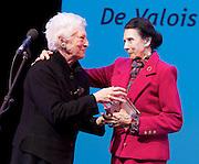 The Critics' Circle National Dance Awards 2016 <br /> at the Lilian Baylis Studio, Sadler's Wells, London, Great Britain <br /> <br /> 6th February 2017 <br /> <br /> Dame Monica Mason presents the De Valois Award to Dame Beryl Grey <br /> <br /> <br /> Photograph by Elliott Franks <br /> Image licensed to Elliott Franks Photography Services