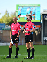 Rugby Union - 2019 / 2020 Gallagher Premiership - Exeter Chiefs vs Gloucester<br /> <br /> Referee Christophe Ridley and Paul Dix check on Exeter Chiefs' Luke Cowan-Dickie's try, at Sandy Park.<br /> <br /> COLORSPORT/ASHLEY WESTERN
