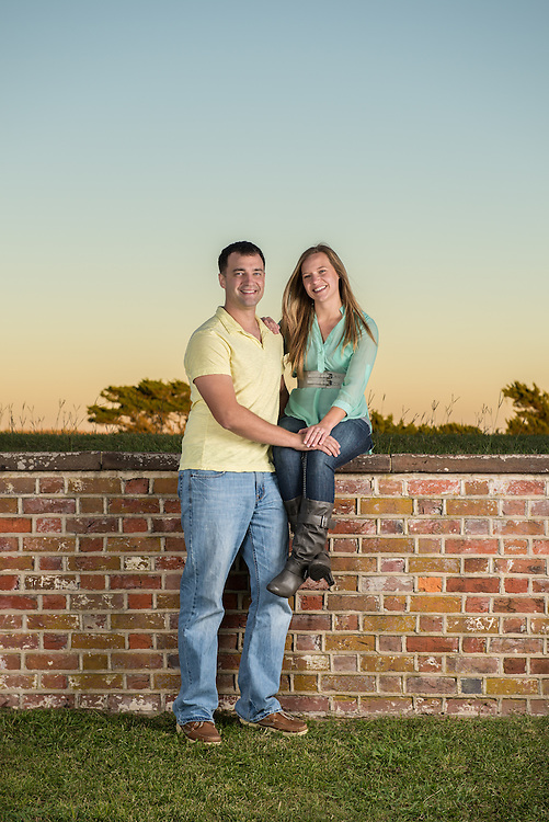 David and Nadia Engagement | Fort Macon NC Photographers