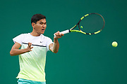 Ashgabat, Turkmenistan - 2017 September 17:<br /> while tennis indoor competition during 2017 Ashgabat 5th Asian Indoor &amp; Martial Arts Games at Indoor Tennis Arena (ITC) at Ashgabat Olympic Complex on September 17, 2017 in Ashgabat, Turkmenistan.<br /> <br /> Photo by &copy; Adam Nurkiewicz / Laurel Photo Services