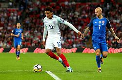 Dele Alli of England goes past Vladimir Weiss of Slovakia - Mandatory by-line: Robbie Stephenson/JMP - 04/09/2017 - FOOTBALL - Wembley Stadium - London, United Kingdom - England v Slovakia - 2018 FIFA World Cup Qualifier