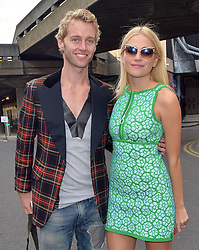 Singer Pixie Lott and Trent Whiddon attend the ISSA Spring/Summer 2015 Show during London Fashion Week in London, UK. 15/09/2014<br />