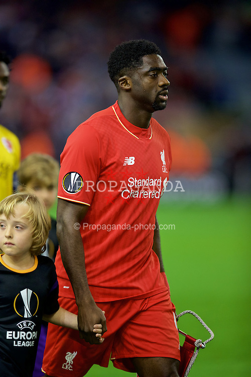 LIVERPOOL, ENGLAND - Thursday, October 1, 2015: Liverpool's Kolo Toure before the UEFA Europa League Group Stage Group B match against FC Sion at Anfield. (Pic by David Rawcliffe/Propaganda)