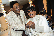 Fats Domino and Little Richard backstage at the Domino Effect concert at the New Orleans Arena on May 30, 2009. Shot for Rolling Stone.