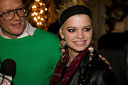 GILES DEACON; PIXIE GELDOF, Kate Grand hosts a Love Tea and Treasure hunt at Flash. Royal Academy. Burlington Gardens. London. 10 december 2008 *** Local Caption *** -DO NOT ARCHIVE-© CohtrigotoPhotograph by Dafydd Jones. 248 Clapham Rd. London SW9 0PZ. Tel 0207 820 0771. www.dafjones.com.<br />